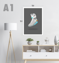 Load image into Gallery viewer, Back to the Future Nike Mag Sneaker Print (Dark Background)