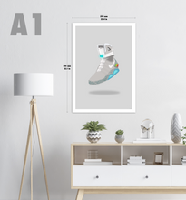 Load image into Gallery viewer, Back to the Future Nike Mag Sneaker Print (Light Background)