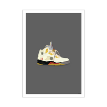 Load image into Gallery viewer, Off-White x Jordan 5 'Sail' Sneaker Print