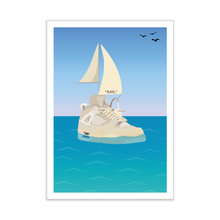 "Load image into Gallery viewer, ""Sail"" Print - Off-White x Air Jordan 4 Sail Sneaker Print"