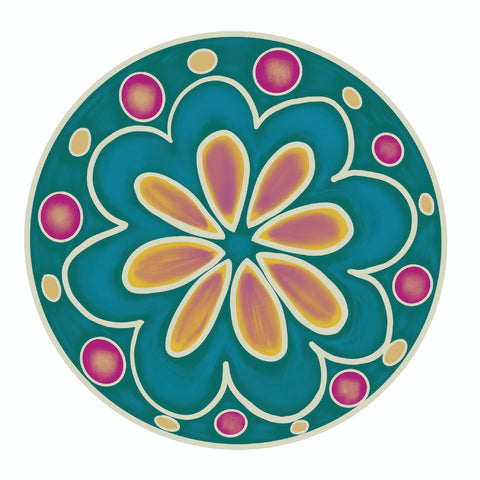 Peacock Floral Plate