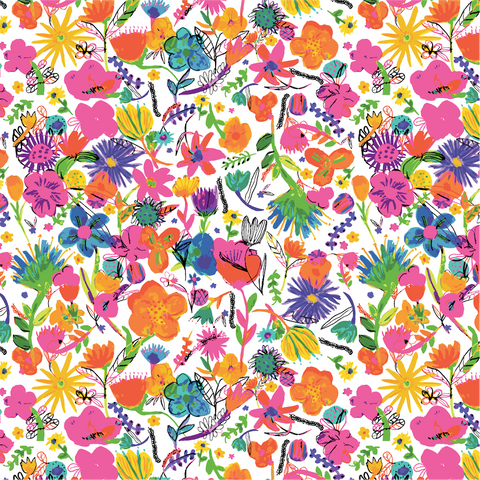 Watercolor Scattered Floral hero repeat