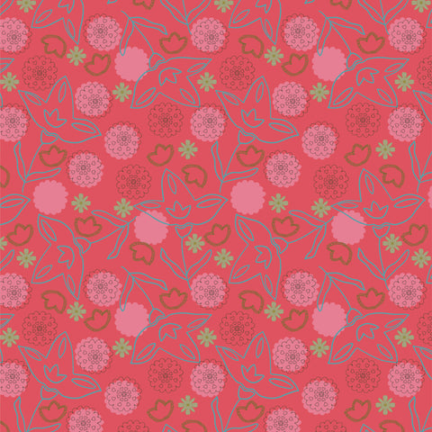 Folksy Wile Florals - Abstract