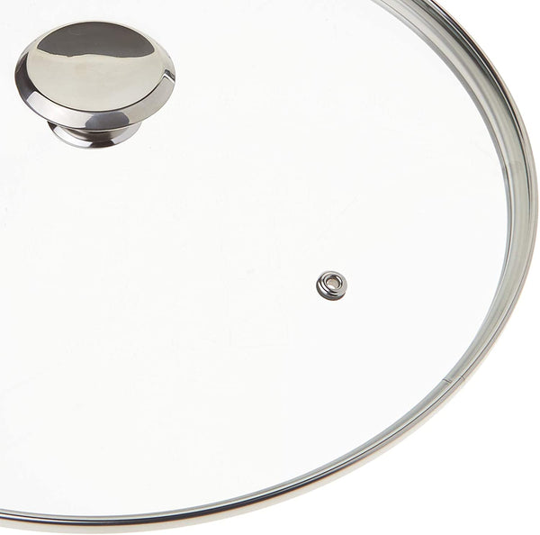 Cook N Home Tempered Glass Lid, 11-inch/28cm, Clear