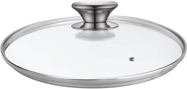 Cook N Home 02592 Tempered Glass Lid for Pan, 8-inch/20cm, Clear