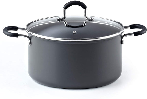Cook N Home 6QT/24CM Anodized Nonstick Casserole,  Black