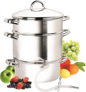 Cook N Home Stainless Steel 11-Qt Steamer Juicer