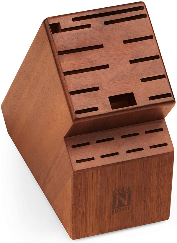 Cook N Home knife storage block, 20 slots, Acacia wood,02660