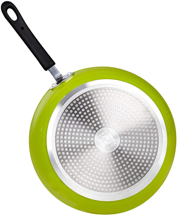 Cook N Home Nonstick Thick Gauge Saute Fry Pan, 12-inch, Green