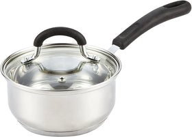 Cook N Home Steel Stainless Saucepan with Lid 1 Quart