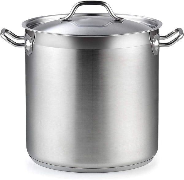 Cooks Standard Professional Grade Lid 11 Quart Stainless Steel Stockpot, Silver