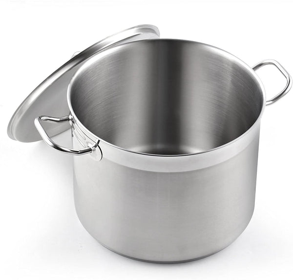 Cooks Standard Classic Lid 8-Quart Stainless Steel Stockpot, Silver,02584