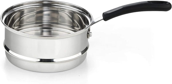 Cook N Home 2 Quarts Double Boiler, Silver