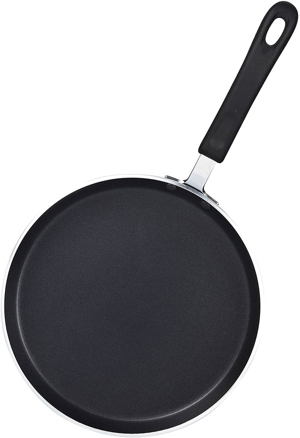 Cook N Home 10.25-Inch Nonstick Heavy Gauge Crepe Pancake Pan Griddle, 26cm, Black