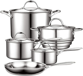 Cooks Standard Multi-Ply Clad Stainless Steel 9-Piece Set