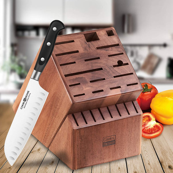Cooks Standard Knife Storage Block, 25 Slot, Acacia