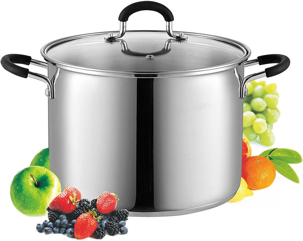 Cook N Home Stainless Steel Stockpot with Lid, 8 Quart