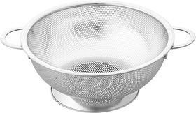 Cook N Home Micro Perforated Colander with Handle and Solid Base