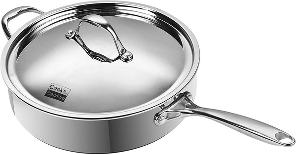 Cooks Standard Multi-Ply Clad Stainless-Steel  Deep Saute Pan with Lid