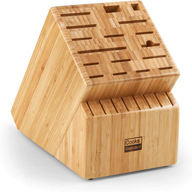 Cooks Standard Knife Storage Block, 25 slots, Bamboo Surface