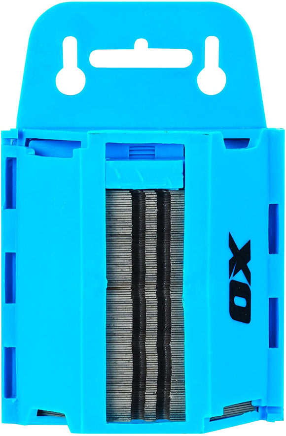 OX Tools Heavy-Duty Knife Blades and Dispenser | 100 Pack