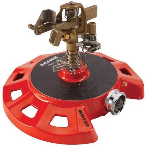 Dramm Circular Base Impulse Sprinkler with a Heavy-Duty Metal Base Assorted Colors