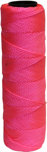 250' Pink Nylon Braided Mason Line #18