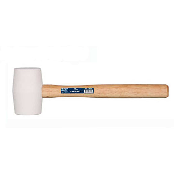 Rubber Mallet W/Wood Handle 20 OZ
