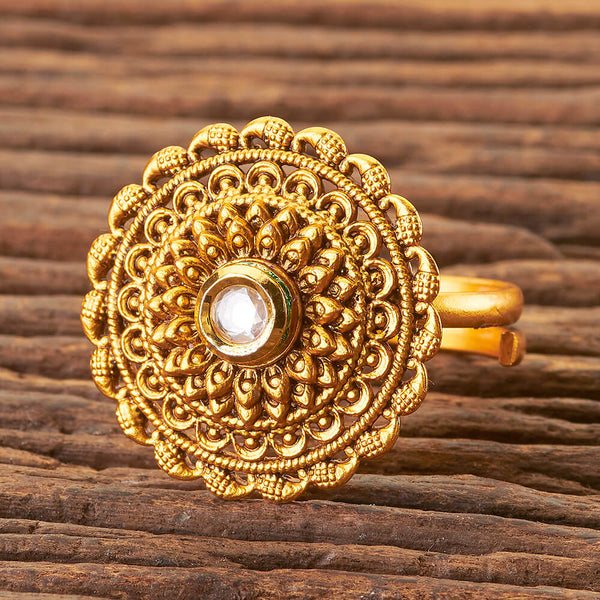 Gold Temple Ring