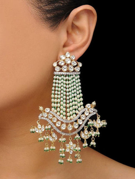 Statement Kunan Earrings Sabyasachi Style Earrings