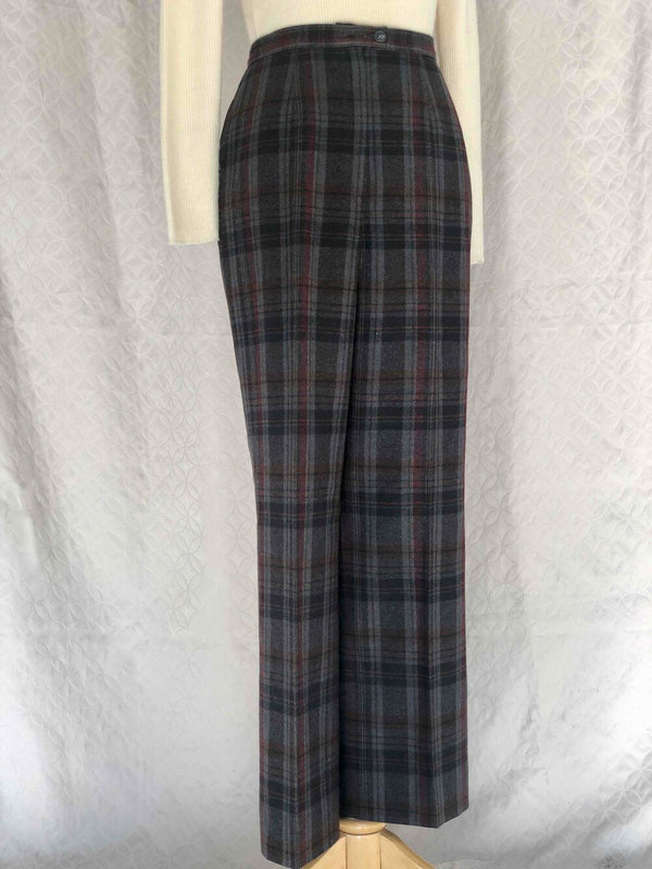 Vintage Pendleton Wool Plaid Straight Leg Pants