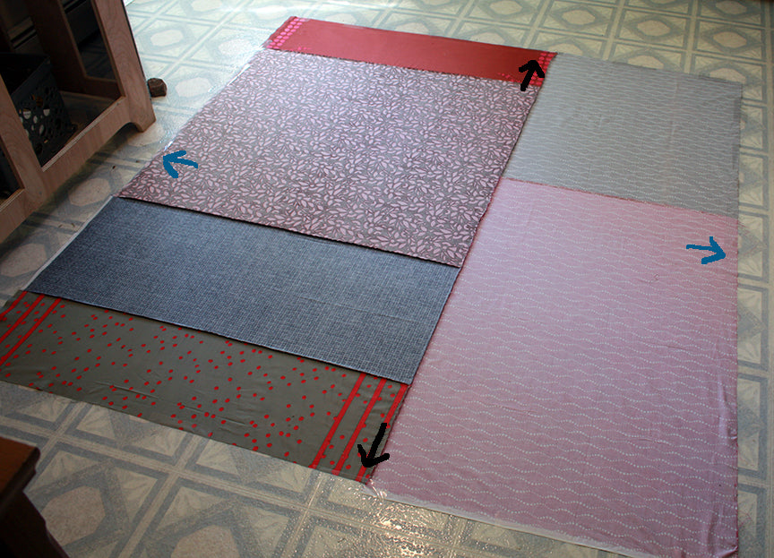 Backing taped to floor