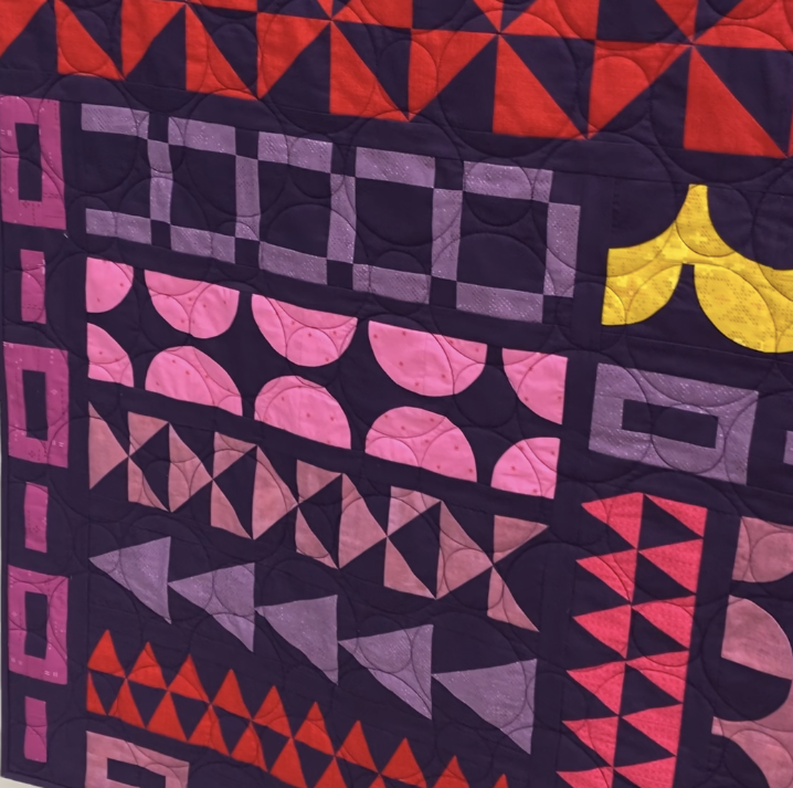 Yonder quilt fabric detail