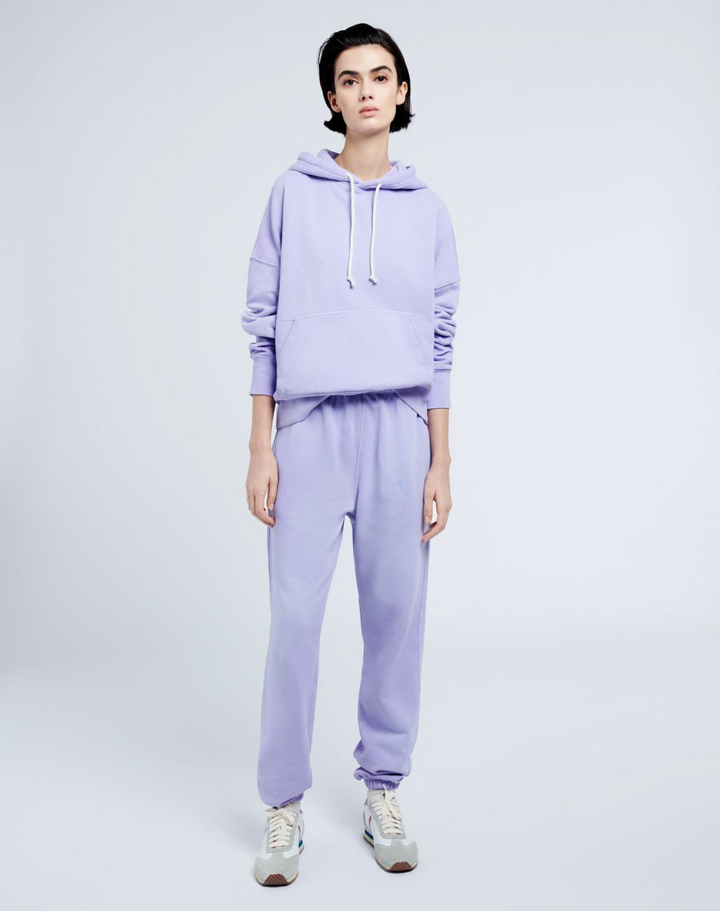 Re/Done Classic Hoodie in Lilac