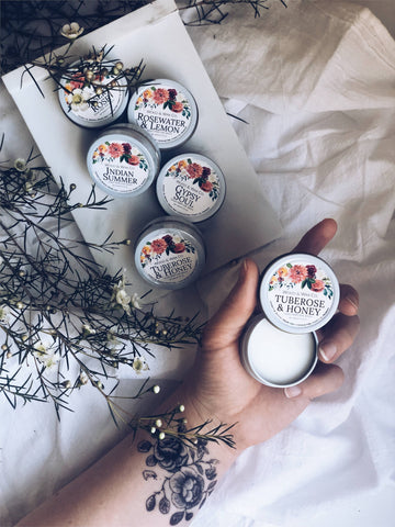 Tuberose & Honey Solid Perfume • .5oz Tin