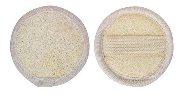 "3"" Round loofah pad w/ terry back - MOESOAP"