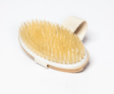 Palm held body brush w/ hand strap - MOESOAP