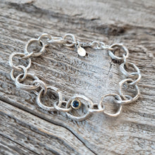 Load image into Gallery viewer, Sterling Silver Twig Link Bracelet