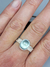 Load image into Gallery viewer, Moss Aquamarine on a multiple Twig Ring in Sterling Silver