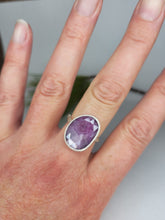 Load image into Gallery viewer, Pink Sapphire Twig Ring in Sterling Silver
