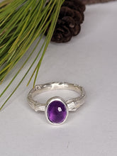 Load image into Gallery viewer, Amethyst big Twig Ring in Sterling Silver