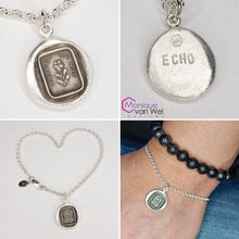 "Load image into Gallery viewer, ""Forget me not"" Charm Bracelet in Sterling silver and Recycled fine Silver"