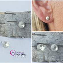 Load image into Gallery viewer, Geo Pebble Sterling Silver Earrings Studs