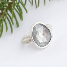 Load image into Gallery viewer, Silver Sapphire Twig Ring in Sterling Silver
