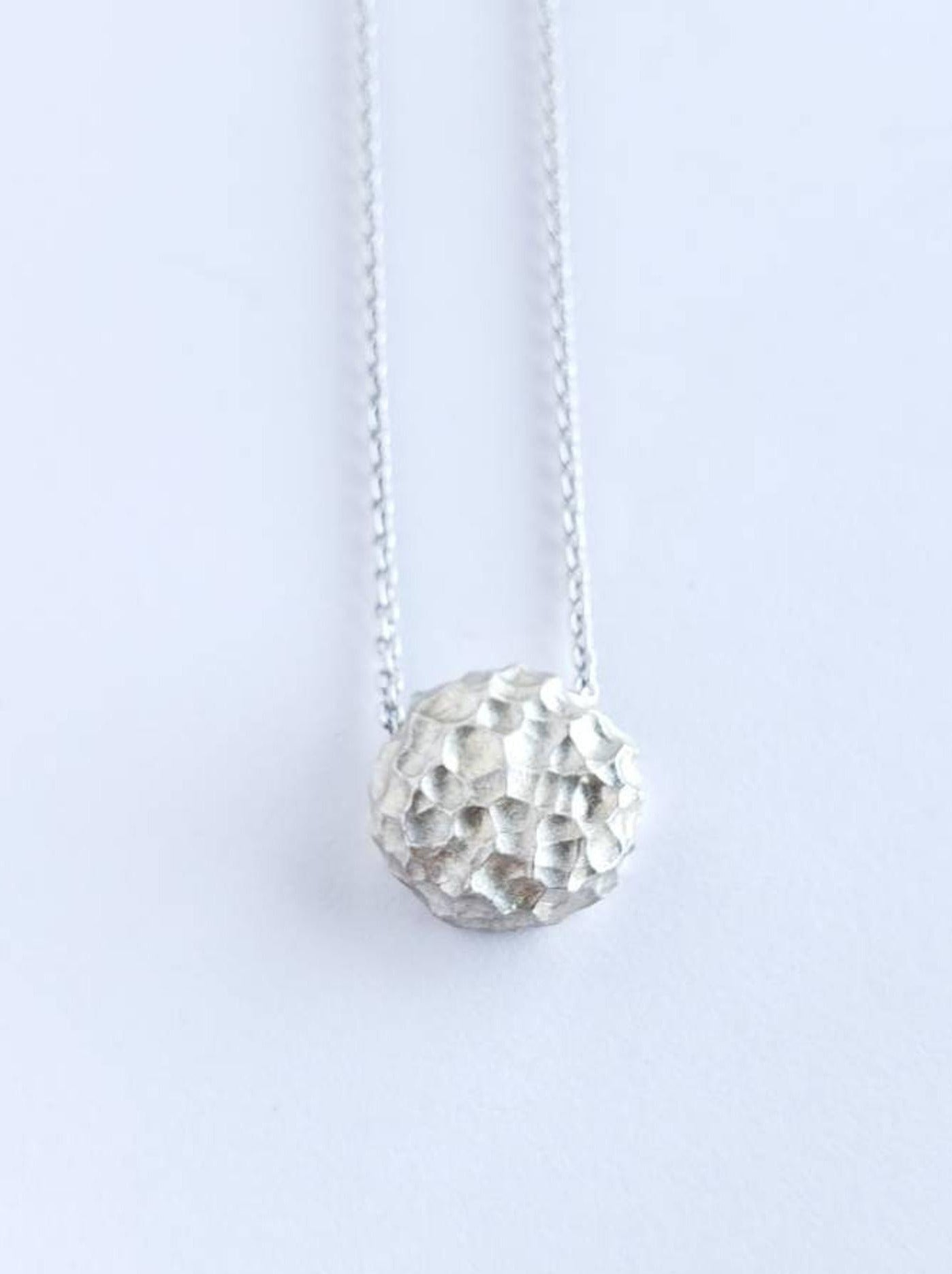 Luna, Textured Sterling Silver Pendant
