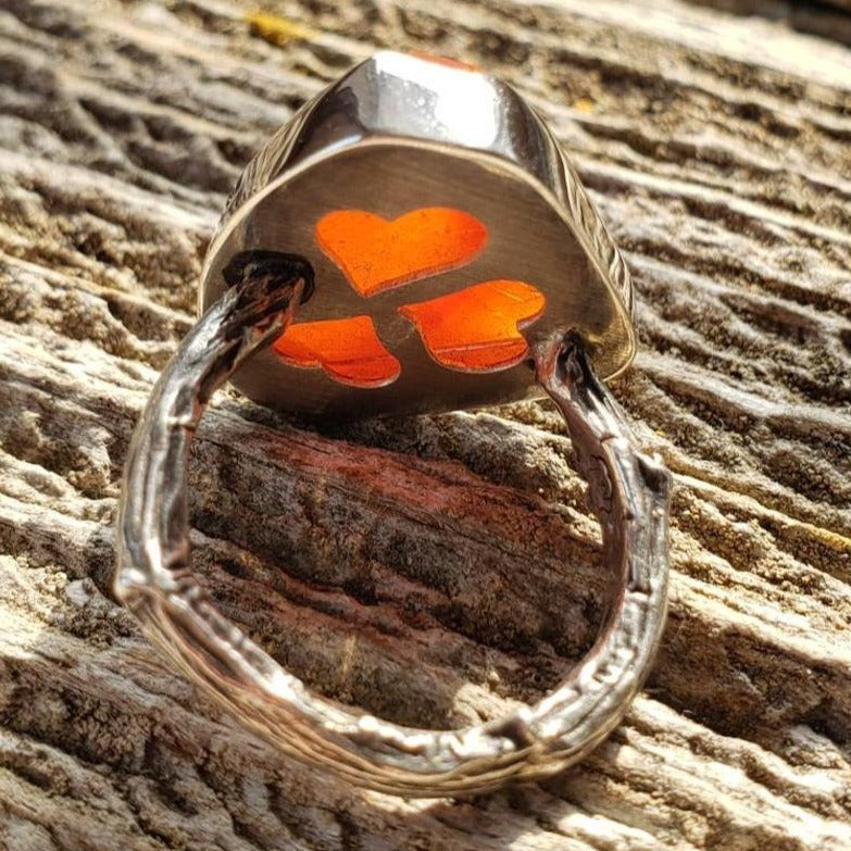 Carnelian Twig Ring in Sterling Silver