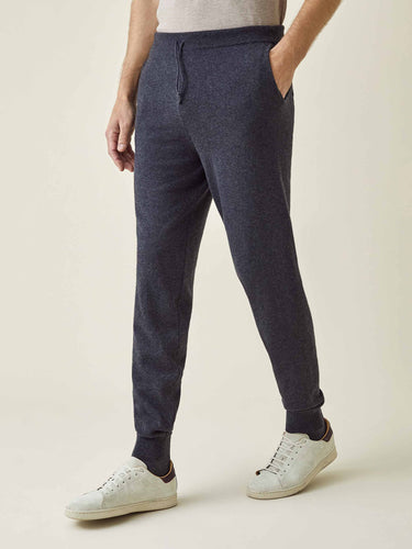Charcoal Grey Pure Cashmere Joggers