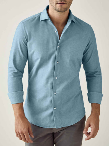Luca Faloni Topaz Brushed Cotton Shirt Made in Italy