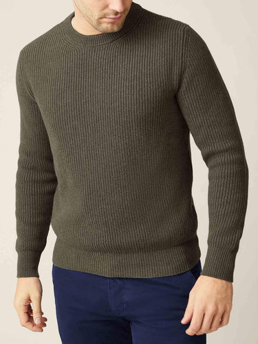 Luca Faloni Hunting Green Chunky Knit Made In Italy Cashmere