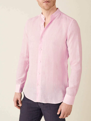 Luca Faloni Light Pink Versilia Linen Shirt  Made in Italy